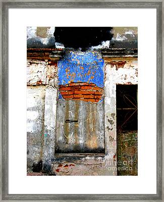 Ancient Wall 5 By Darian Day Framed Print