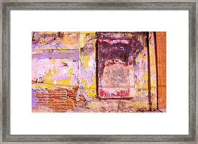 Ancient Wall 7 By Michael Fitzpatrick Framed Print by Mexicolors Art Photography