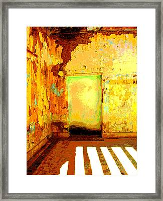 Ancient Wall 8 By Michael Fitzpatrick Framed Print by Mexicolors Art Photography