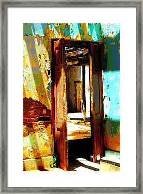 Ancient Wall 9 By Michael Fitzpatrick Framed Print by Mexicolors Art Photography