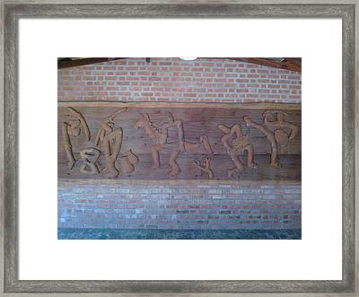 Ancient Wall Carving Framed Print by Joni Mazumder