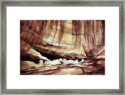 Ancient Wall Framed Print