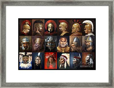 Ancient Warriors Framed Print by Arturas Slapsys