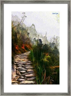 Ancient Way - Da Framed Print by Leonardo Digenio