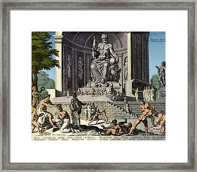Ancient Wonder Of The World, Zeus Framed Print by Science Source