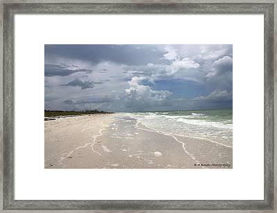 Anclote Key Beach Framed Print by Barbara Bowen
