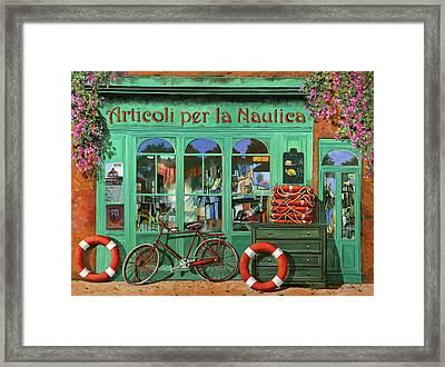 Ancora Una Bicicletta Rossa Framed Print by Guido Borelli