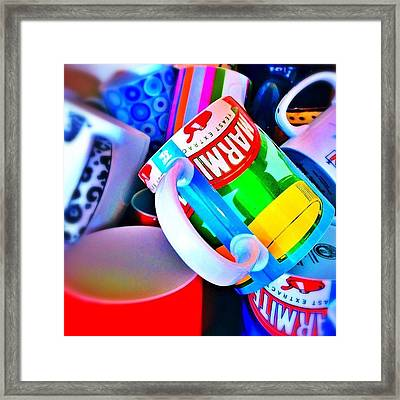 And A Jumble Of Mugs.... #mugs #jumble Framed Print by Mark  Thornton
