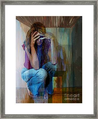 And Alice Wonders How Ever Did She Get Here Framed Print by Tammera Malicki-Wong
