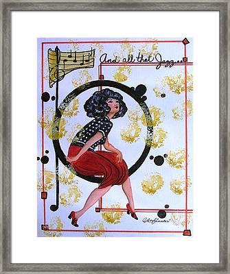 And All That Jazz Framed Print by Carol Allen Anfinsen