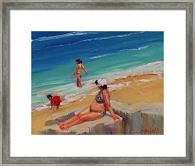 And Baby Makes Three Framed Print by Laura Lee Zanghetti