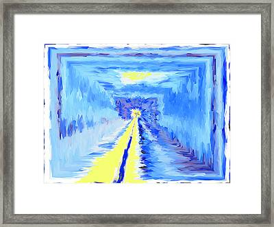 And Brighter Still Framed Print by Wendy Rickwalt