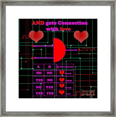 And Gate Connection With Love Framed Print