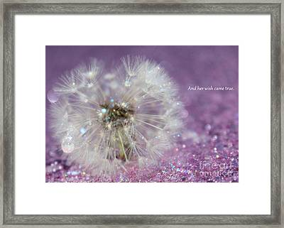 And Her Wish Came True Framed Print