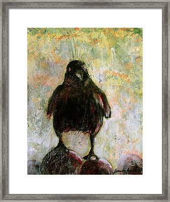 And His Eyes Framed Print by Sandy Applegate