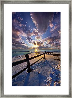 Framed Print featuring the photograph And I Will Give You Rest. by Phil Koch