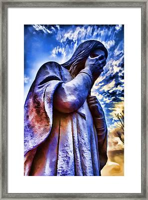 And Jesus Wept Framed Print by Ricky Barnard