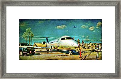 And On That Tuesday We Landed Somewhere Warmer Framed Print
