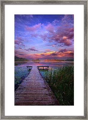 And Silence Framed Print