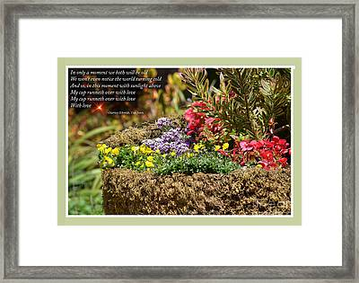 And So In This Moment With Sunlight Above II Framed Print