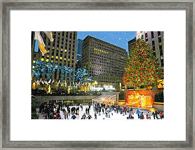 And So This Is Christmas Framed Print