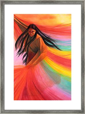 And So We Dance Framed Print by Maria Hathaway Spencer