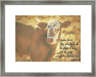 And The Cattle Framed Print by Janice Rae Pariza