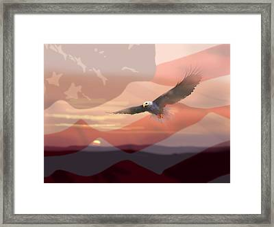 And The Eagle Flies Framed Print by Paul Sachtleben
