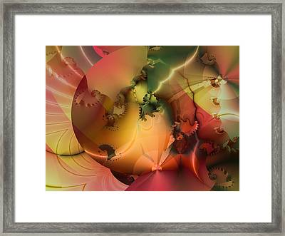 Framed Print featuring the digital art And The Floodgates Of Heaven Were Opened by Richard Ortolano