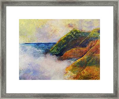 And The Fog Rolls In Framed Print