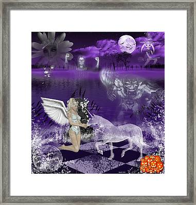 And The Ghosts Have Risen Framed Print by Morning Dew