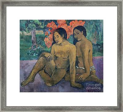 And The Gold Of Their Bodies Framed Print by Paul Gauguin
