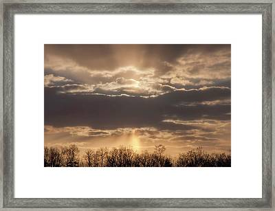 And The Heavens Open Up Framed Print by Bill Cannon