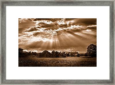 And The Heavens Opened 3 Framed Print