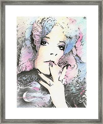 And The Lady's Feeling Just Like The Moon... Framed Print
