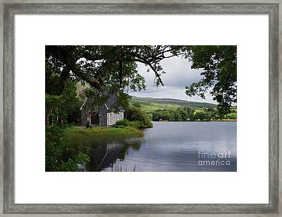 And The Land Was Very Broad, Quiet, And Peaceful Framed Print by Anna Eigler