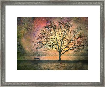 And The Morning Is Perfect In All Her Measured Wrinkles Framed Print by Tara Turner