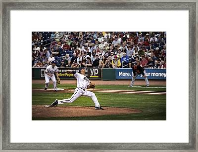 And The Pitch Framed Print by Maria Coulson