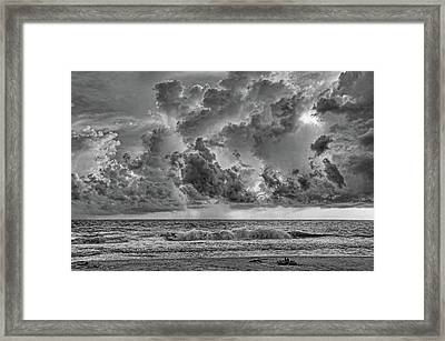 And The Rains Came 2 - Clouds Framed Print