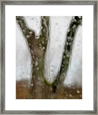 And The Rains Came Framed Print by Odd Jeppesen