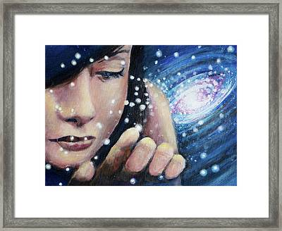 And The Stars Go With You Framed Print by Simon Kregar