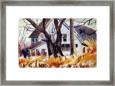 And The Sun Came Out Framed Print