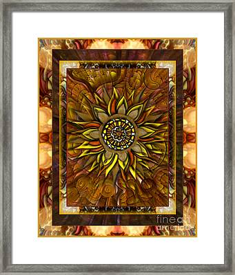 And The Sun Poured In Like Butterscotch Framed Print