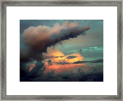 And The Thunder Rolls Framed Print
