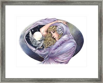 And The Wind Became Crazy Framed Print by Johanna Pieterman
