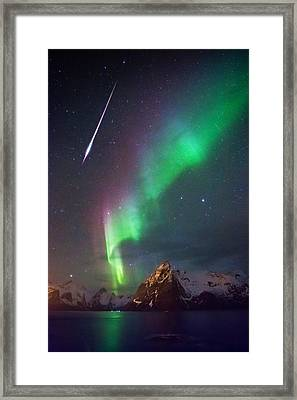 And Then It Hit Me Framed Print by Alex Conu