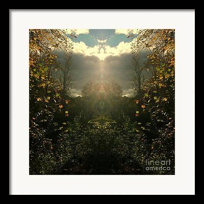 Southern Indiana Autumn Digital Art Framed Prints