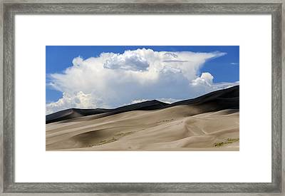 And Then The Storm Framed Print