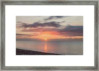 And Then The Sun... Framed Print