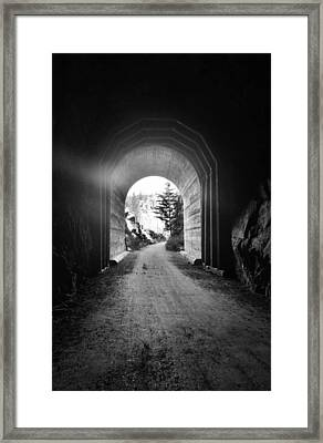 And There Is Light Framed Print